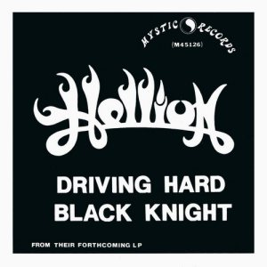 Hellion - Driving Hard / Black Knight cover art