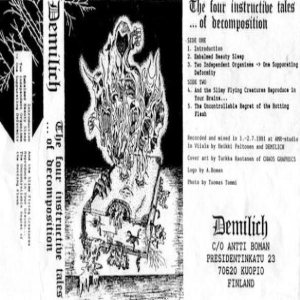 Demilich - The Four Instructive Tales... of Decomposition cover art