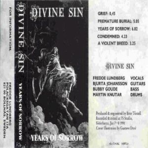 Divine Sin - Years of Sorrow cover art