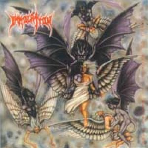 Immolation - Stepping on Angels Before Dawn cover art