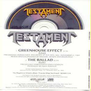 Testament - Greenhouse Effect cover art