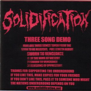 Solidification - Three Song Demo cover art