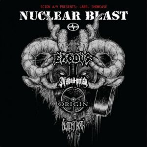 Decrepit Birth / Origin / All Shall Perish / Exodus - Label Showcase - Nuclear Blast cover art