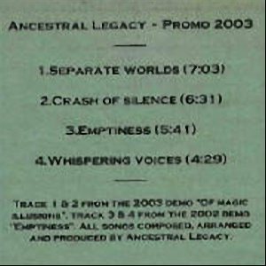 Ancestral Legacy - Promo CD cover art