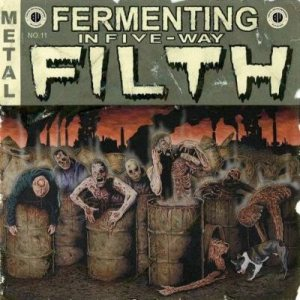 Down from the Wound - Fermenting in Five-Way Filth cover art