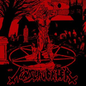 Crucifier / Nunslaughter - Trafficking with the Devil cover art