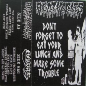 Agathocles - Mincecore Provocateur / Don't Forget to Eat Your Lunch and Make Some Trouble cover art
