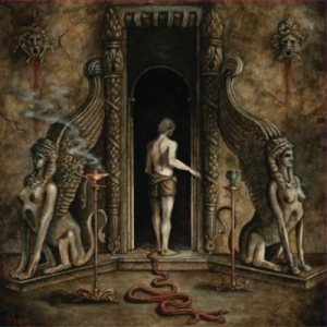 Nightbringer / Saturnalia Temple - On the Powers of the Sphinx cover art