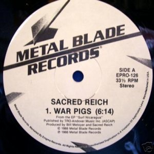 Sacred Reich - War Pigs (promo) cover art