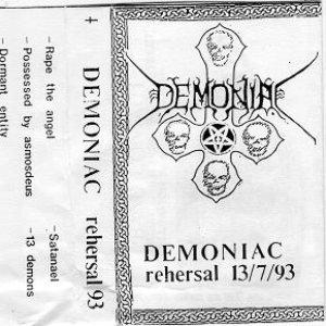 Demoniac - Rehersal 13/7/93 cover art