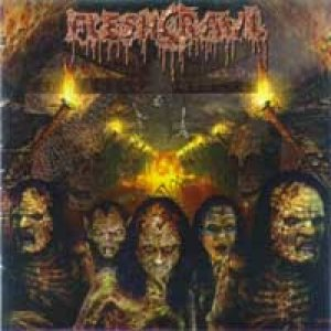 Fleshcrawl - As Blood Rains From the Sky... We Walk the Path of Endless Fire cover art