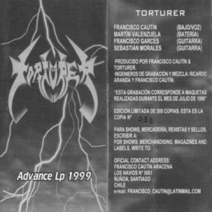 Torturer - Advance Lp 1999 cover art