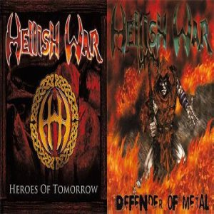 Hellish War - Defender of Metal / Heroes of tomorrow cover art