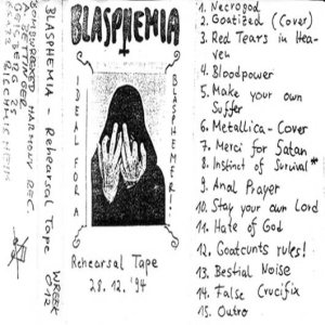 Blasphemia - Rehearsal Tape 28.12.94 cover art