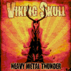 Viking Skull - heavy metal thunder cover art