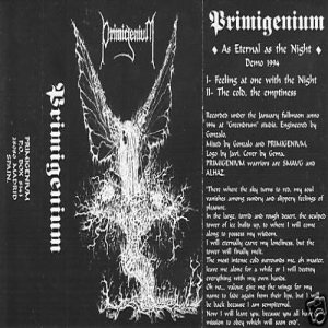 Primigenium - As Eternal as the Night cover art