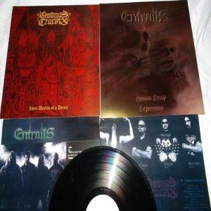 Entrails - Ominous Crucifix / Entrails cover art