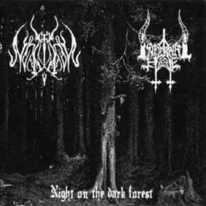 Night on the Dark Forest - Infernal Hate / Lupus Nocturnus cover art