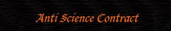 Anti Science Contract logo