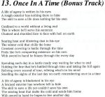 Once In A Time lyrics