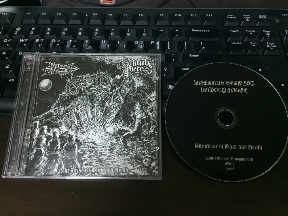 Unholy Force - The Arise of Pain and Death CD Photo