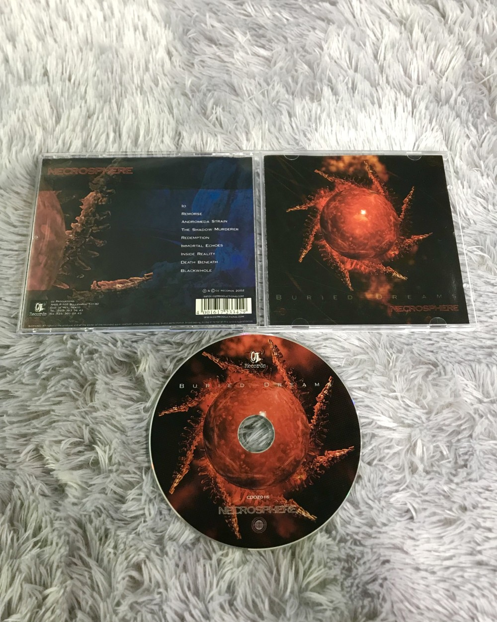 Buried Dreams - Necrosphere CD Photo