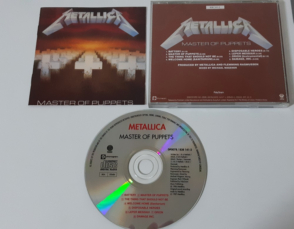Metallica - Master of Puppets CD Photo