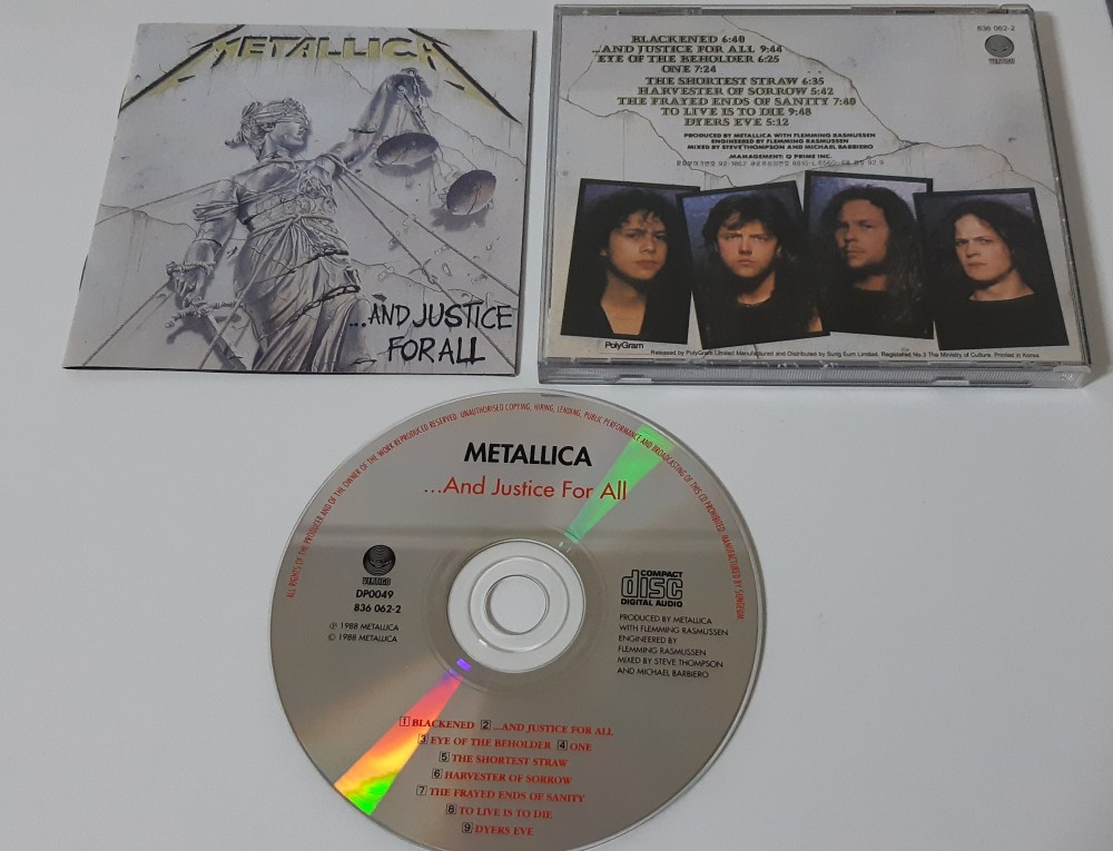 Metallica - ...And Justice for All CD Photo