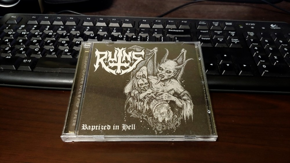 Ruins - Baptized in Hell CD Photo