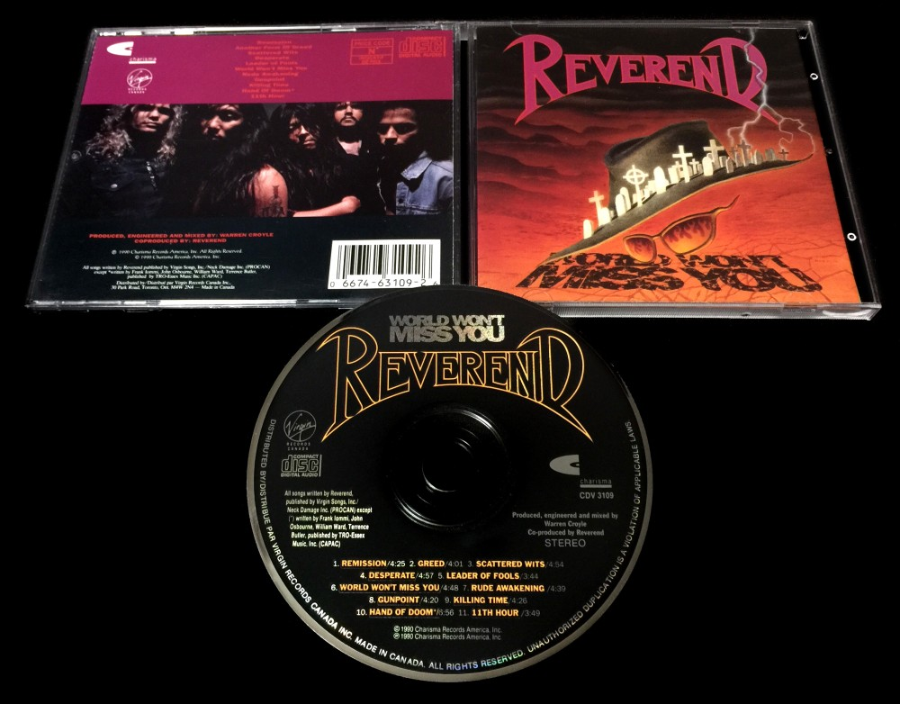 Reverend - World Won't Miss You CD Photo