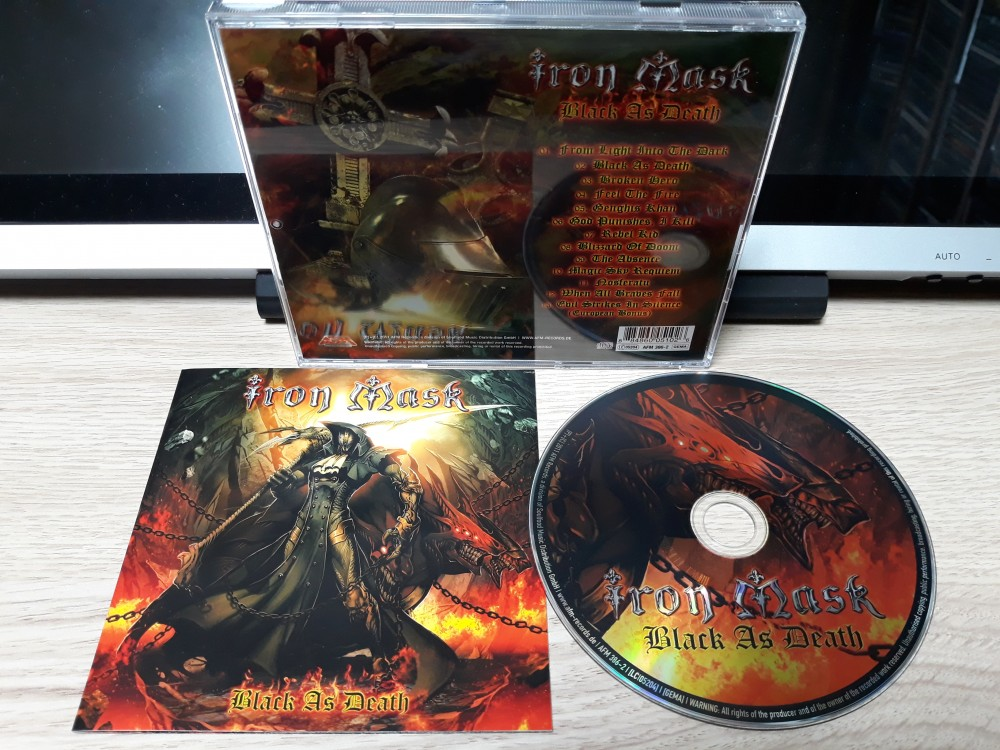 Iron Mask - Black As Death CD Photo