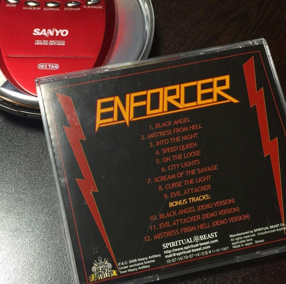 Enforcer - Into the Night CD Photo