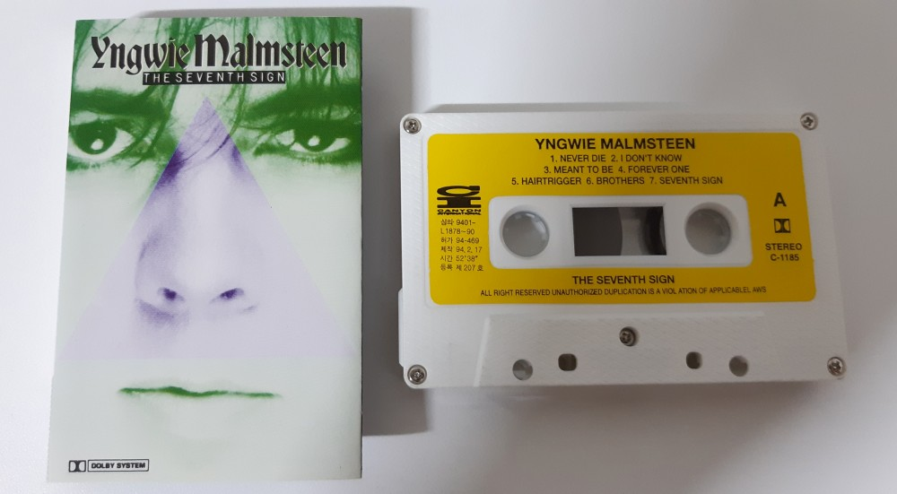 Yngwie Malmsteen - The Seventh Sign Cassette Photo