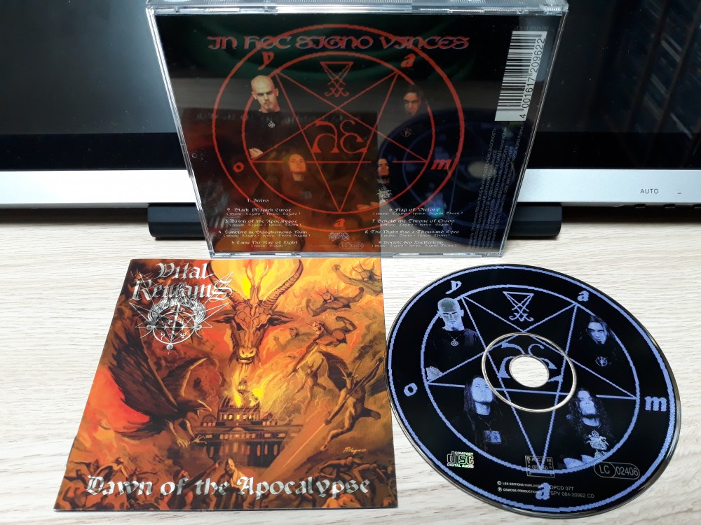 Vital Remains - Dawn of the Apocalypse CD Photo
