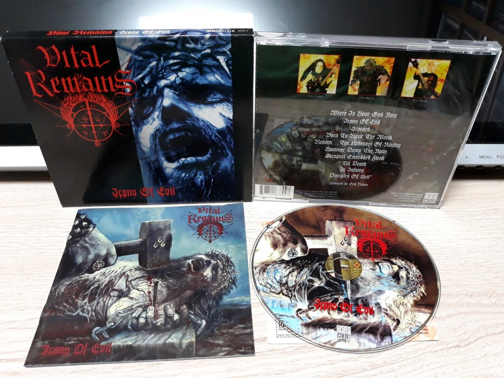 Vital Remains - Icons of Evil CD Photo