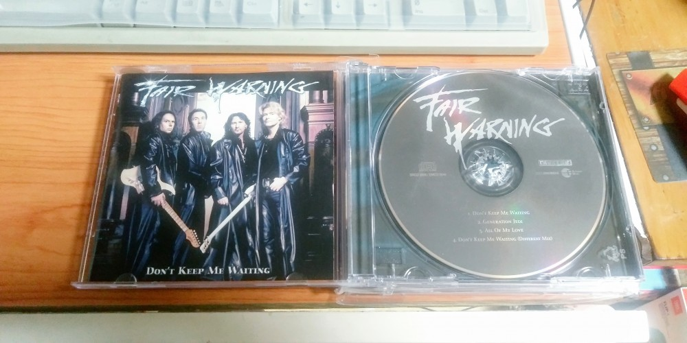 Fair Warning - Don't Keep Me Waiting CD Photo