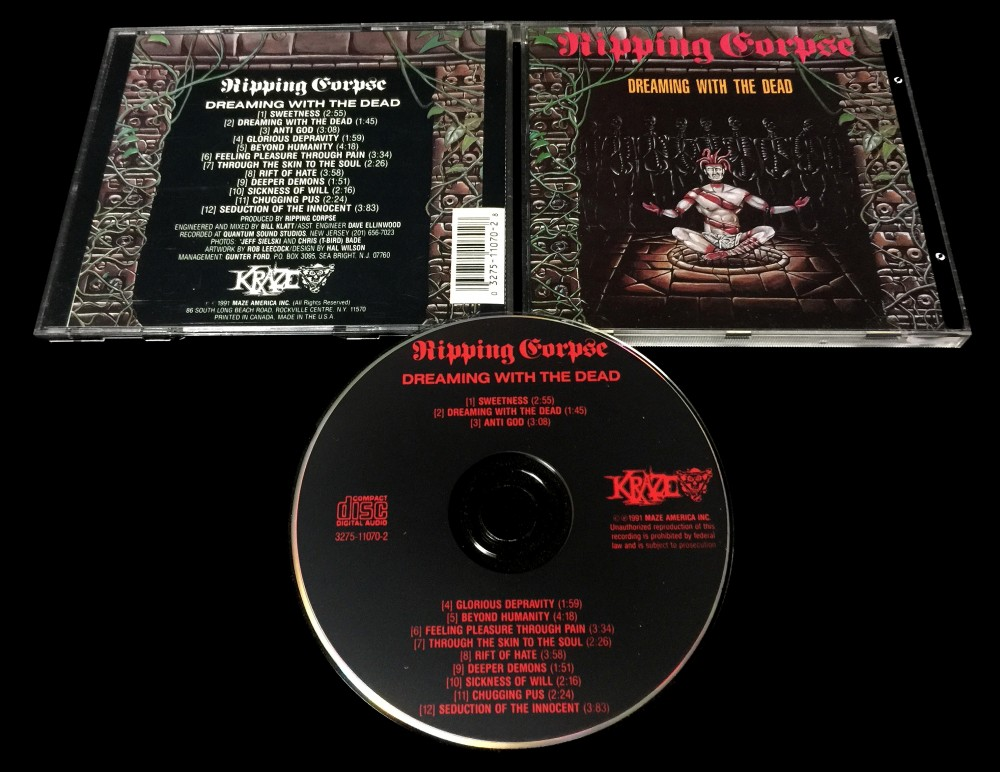 Ripping Corpse - Dreaming with the Dead CD Photo