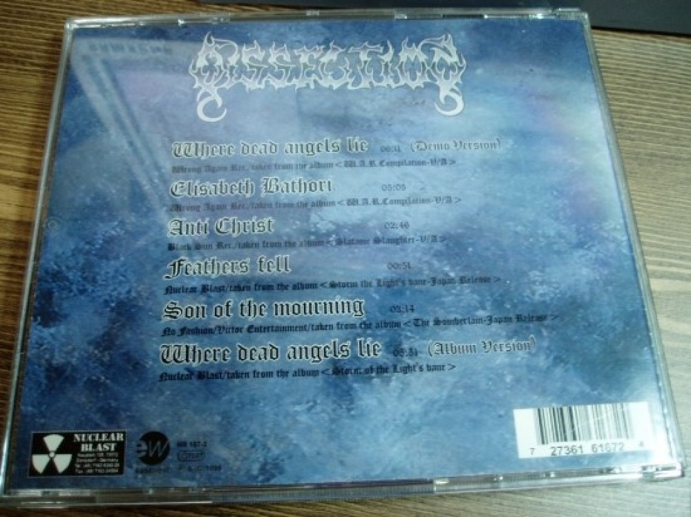 Dissection - Where Dead Angels Lie CD Photo