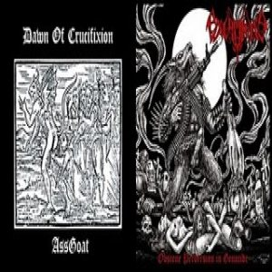 Dawn of Crucifixion - Obscene Perversion in Genocide / Goat Ass cover art