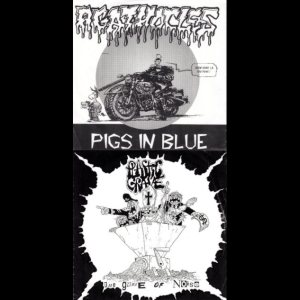 Agathocles / Plastic Grave - Pigs in Blue / the Grave of Noise cover art