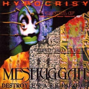 Hypocrisy / Meshuggah - Roswell 47 / Future Breed Machine cover art