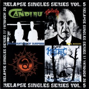 Mythic / Mortician / Afflicted / Candiru - Relapse Singles Series Vol. 5 cover art