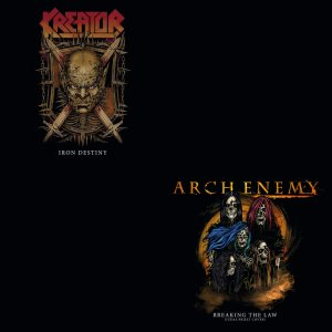 Arch Enemy / Kreator - Breaking the Law / Iron Destiny cover art