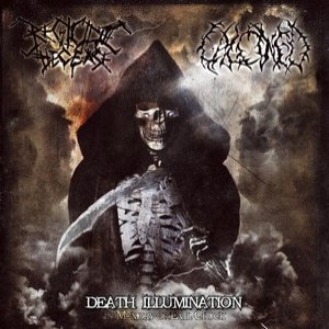 Calcined / Regicide Decease - Death Illumination - in Memory of Evil Chuck cover art