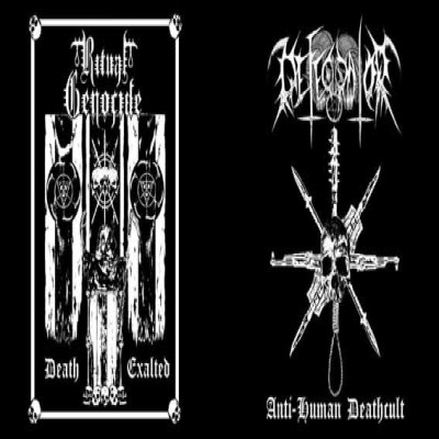 Ritual Genocide / Defecrator - Anti-Human Deathcult/Death Exalted cover art