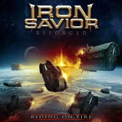 Iron Savior - Reforged - Riding on Fire cover art