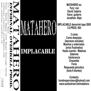 Matahero - Implacable cover art