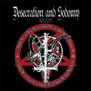 Black Witchery / Archgoat - Desecration & Sodomy cover art