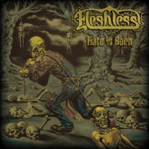 Fleshless - Hate Is Born cover art