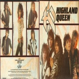 Highland Queen - Living After Midnight cover art